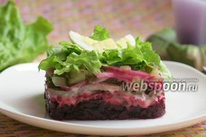 Салат из свёклы и языка
