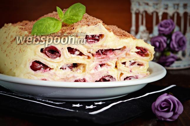 Фото Блинный торт с заварным кремом