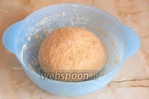 Как видно на фото, тесто уже стало гораздо более гладким, оно нежное и послушное. Отправляем на повторную расстойку ещё на полчаса.