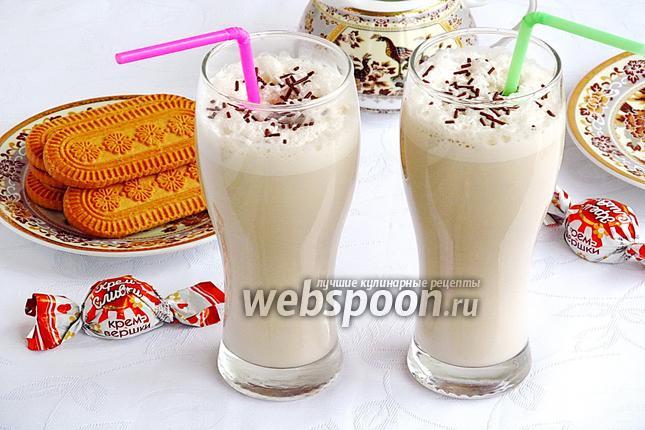 Рецепт Молочно-кофейный коктейль с мороженым и мёдом