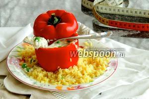 Фаршированный перец на рисе карри
