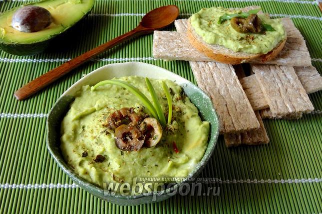 Фото Бутербродная паста из авокадо