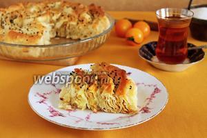 Турецкий пирог из лаваша