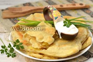 Плацинды с картофелем