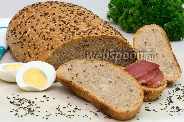 Фото Цельнозерновой хлеб со льном и кунжутом