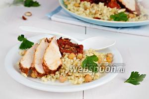 Салат из булгура с курицей