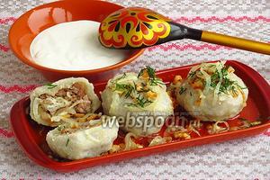 Клёцки картофельные с мясом по-белорусски