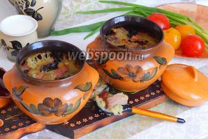 Бабка по-белорусски со свининой и грибами