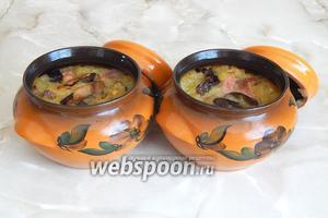 Вот и всё. Вкусшейшая, не сказать, что жирная бабка по-белорусски со свининой и грибами готова!