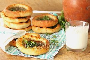 Хлебная лепёшка с мясом