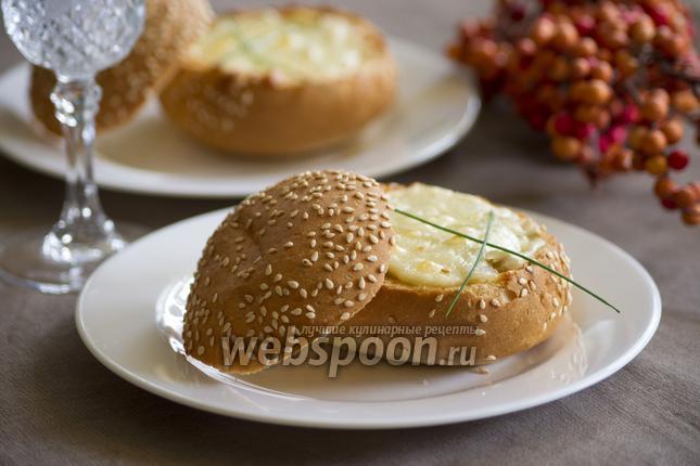 Фото Грибы в булочке