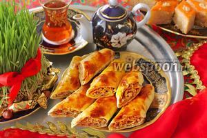 Ореховые рулеты по-азербайджански