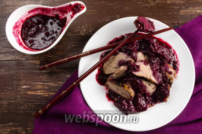 Фото Свинина с вишневым соусом по-китайски