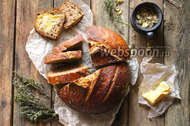 Фото Цельнозерновой хлеб на натуральной закваске
