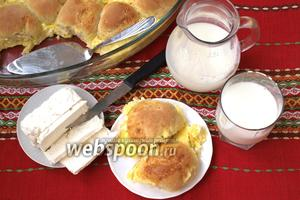 Милинки — деревенские булочки в омлете