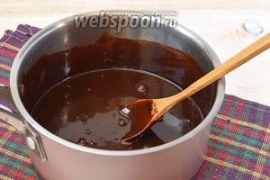 Растопленную шоколадную массу охладить.