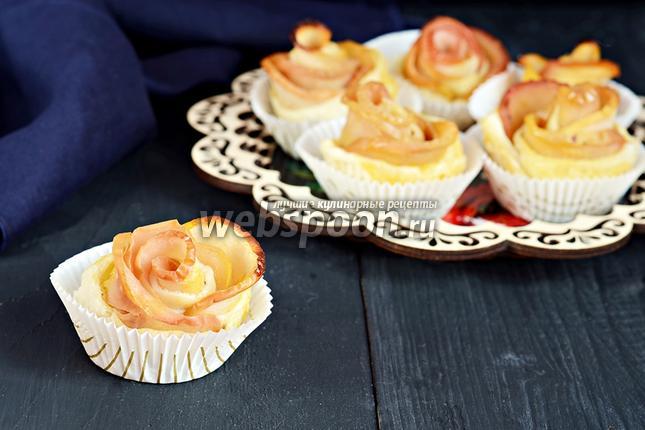 Фото Слоёные булочки с яблоками