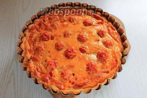 Выпекать около 40 минут при температуре 200°C. Смотрите по вашей духовке. Наш пирог готов. Приятного аппетита!