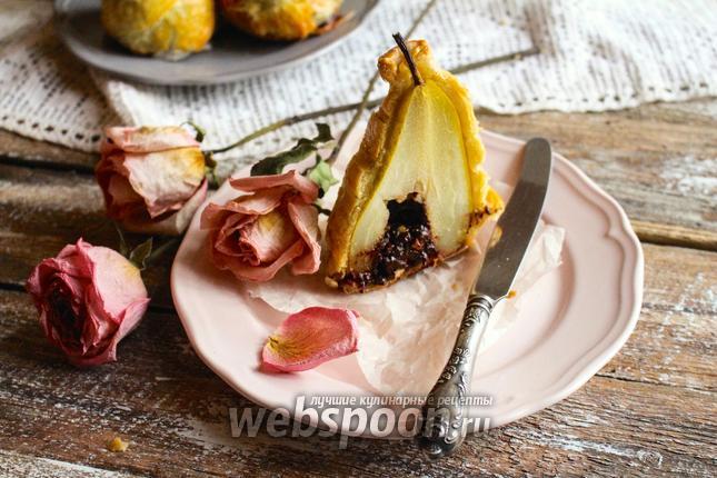 Десерт груша в шоколаде