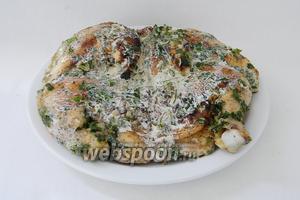 Чкмерули готов, подаём с салатом и грузинским лавашом. Приятного аппетита!