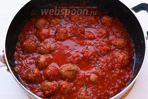 Добавить шарики и готовить ещё 15 минут под закрытой крышкой.