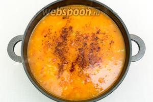 И проварим ещё пару минут на небольшом огне. Солим. Дадим супу настояться минут 5-10 и подаём. Очень вкусно добавить прямо в суп нарезанный копчёный сыр. Или вприкуску с хлебом. А можете присыпать любой зеленью. Приятного аппетита!