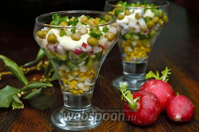 Фото Весенний салат с редисом