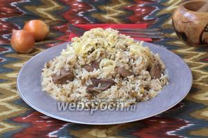 Рисовая каша с машем и телятиной