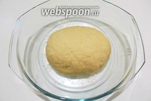 Замешанное тесто накрываем полотенцем и отправляем в тёплое место на минут 30-40. Пока тесто отдыхает приготовим вкусную начинку.