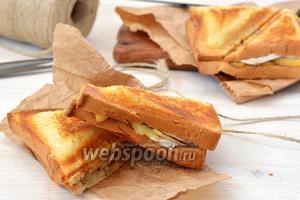 Сэндвич с камамбером, орехами и яблоками