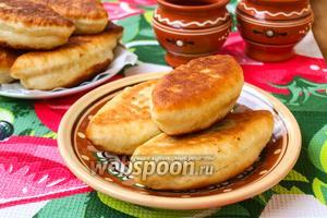 Пирожки с капустой из заварного дрожжевого теста жареные