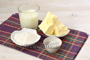 Для приготовления крема нам понадобится сливочное масло, молоко, сахарная пудра, ванильный сахар.