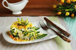 Салат из черемши с «нежным» соусом