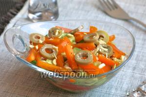 Салат из томатов и сладкого перца