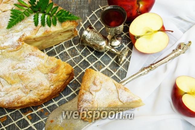 Фото Слоёный пирог с хмельными яблоками