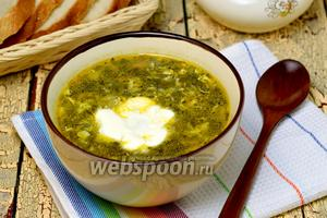 Суп из консервированного щавеля в мультиварке