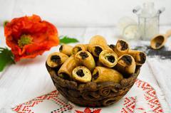 Творожное печенье с маковой начинкой