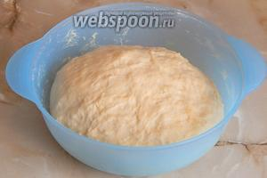 Тесто очень быстро выросло — раза в 2,5-3 точно.