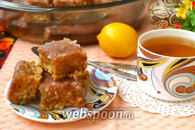 Фото Лимонно-изюмный пирог