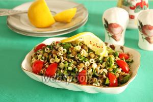 Салат из чечевицы и макарон