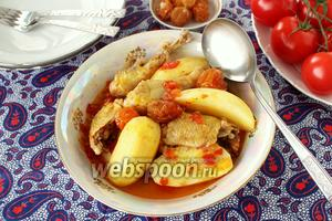 Бозбаш по-азербайджански из курицы
