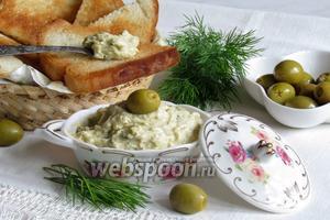 Бутербродная паста с оливками