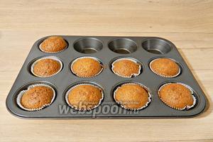 Выпекаем кексы при температуре 180°C в течении 20-25 минут.