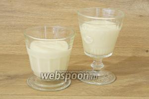 Готовый крем распределяем по креманкам для подачи.