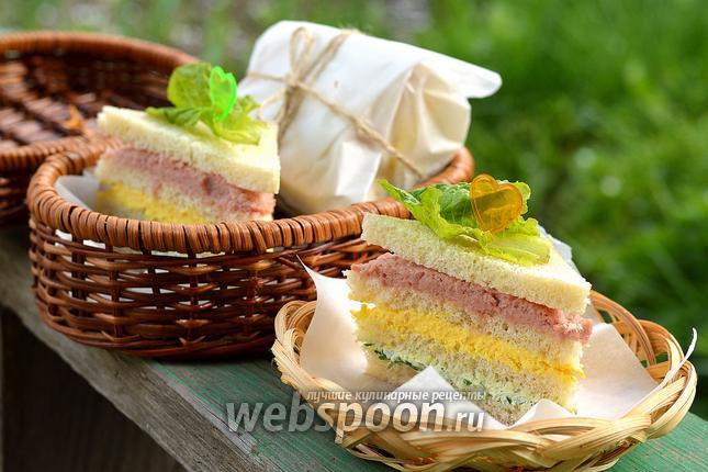 Фото Полосатый бутерброд