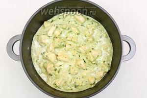 Перемешиваем. Блюдо готово.  Подаём как ваша душа пожелает: с картофельным пюре, макаронами, овощами, приготовленными на пару, а можно и просто так, с хлебом. Я подавала с рисом. Приятного аппетита!