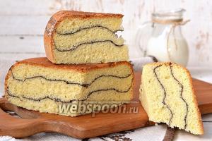 Полосатый бисквит в мультиварке