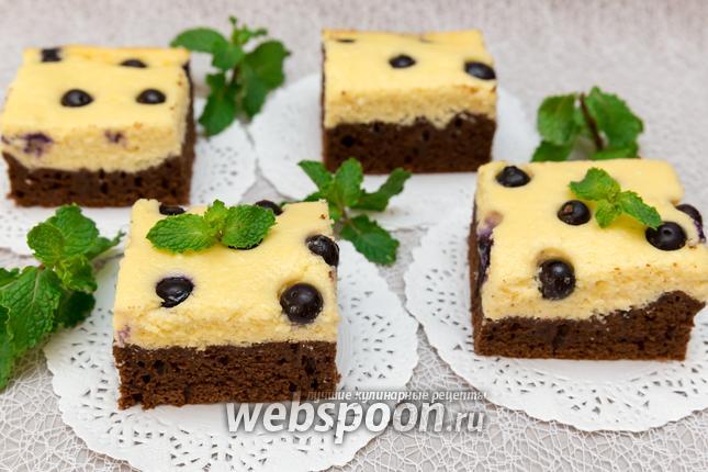 Фото Шоколадный пирог с творожным муссом