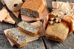 Маковый кекс с орехами и изюмом