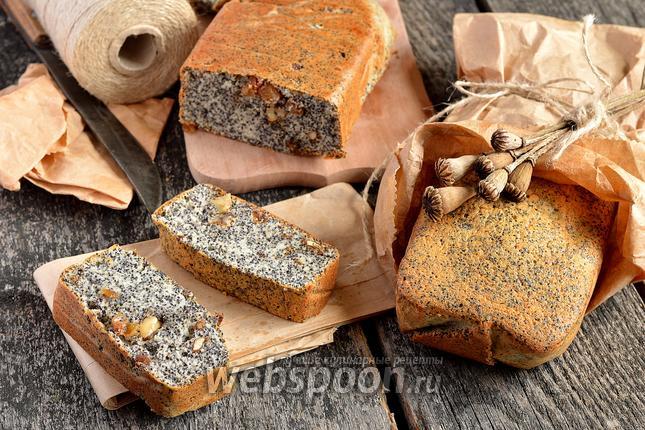 Фото Маковый кекс с орехами и изюмом